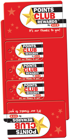 single card four plastic keytags