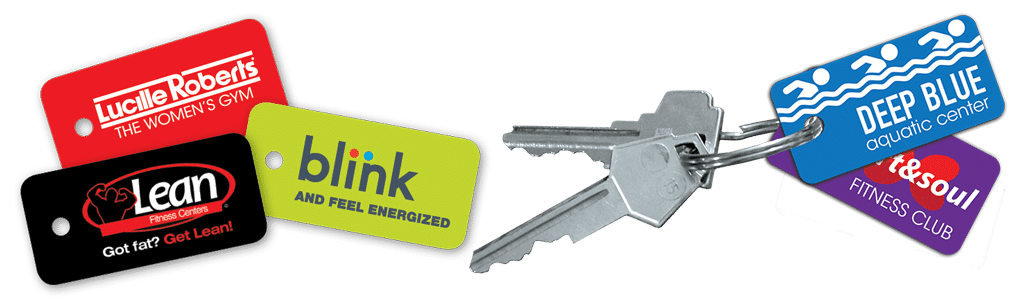 Lucille Roberts, Lean, Blink key tags and samples on keys