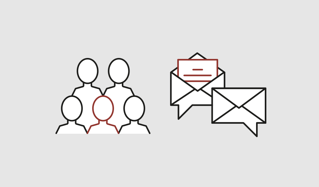 Simple illsutration of the effect of personalized direct mail.