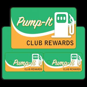Loyalty-Rewards wallet card and 2 key tags