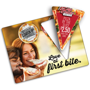 Mailer with Pizza Shape pop out
