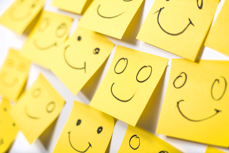 sticky note smiley faces